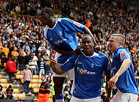 Photo: Paul Thomas.<br /> Wolverhampton Wanderers v Birmingham City. Coca Cola Championship. 22/04/2007.<br /> <br /> Cameron Jerome (C) and Birmingham celebrate his late winner.
