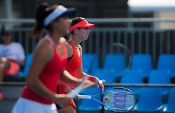 January 8, 2019 - Sidney, AUSTRALIA - Priscilla Hon of Australia & Ajla Tomljanovic of Australia playing doubles at the 2019 Sydney International WTA Premier tennis tournament (Credit Image: © AFP7 via ZUMA Wire)
