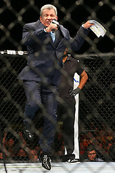 Ledyard, Connecticut, USA - September 5, 2014: Bruce Buffer at UFC Fight Night at the Grand Theater at Foxwoods Resort Casino in Ledyard, Connecticut.  Ed Mulholland for ESPN