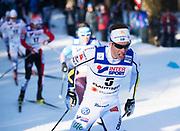 LAHTIS, FINLAND - 5 MARS: Marcus Hellner under herrarnas 50 km mass start under FIS Nordic World Ski Championships den 5 mars , 2017 i Lahti, Finland. <br /> Foto: Nils Petter Nilsson/Ombrello<br /> ***BETALBILD***