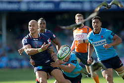 March 17, 2018 - Sydney, NSW, U.S. - SYDNEY, NSW - MARCH 18: Rebels player Reece Hodge (12) offloads a pass at round 5 of the Super Rugby between Waratahs and Rebels at Allianz Stadium in Sydney on March 18, 2018. (Photo by Speed Media/Icon Sportswire) (Credit Image: © Speed Media/Icon SMI via ZUMA Press)