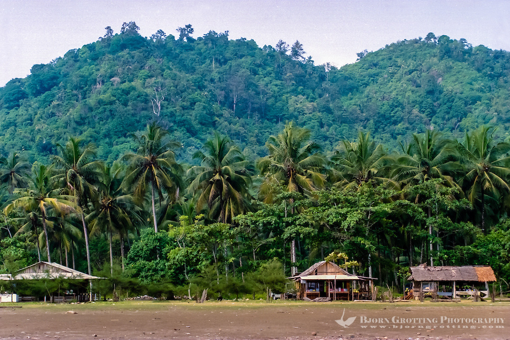 West Sumatra, Padang. Air Manis beach outside Padang is perfect for a walk, and has a relaxed atmosphere, at least on the weekdays.