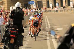 Napoli, Italy - Giro d'Italia - May 4, 2013 - Long peloton