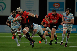 April 8, 2018 - Nanterre, Hauts de Seine, France - RC Toulon Lock DAVE ATTWOOD in action during the French rugby championship Top 14 match between Racing 92 and RC Toulon at U Arena Stadium in Nanterre - France..Racing 92 Won  17-13. (Credit Image: © Pierre Stevenin via ZUMA Wire)