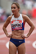 Emily Diamond of Great Britain before the Women's 400m during the Muller Anniversary Games at the London Stadium, London, England on 9 July 2017. Photo by Martin Cole.