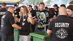 06.08.2010, Wacken Open Air 2010, Wacken, GER, 2.Tag beim 21.Heavy Metal Festival die Security bei der Einlasskontrolle aufs Festivalgelaende, EXPA Pictures © 2010, PhotoCredit: EXPA/ nph/  Kohring+++++ ATTENTION - OUT OF GER +++++ / SPORTIDA PHOTO AGENCY