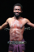 David Oyelowo is first black James Bond after landing audiobook role<br /> Actor says he is &lsquo;very honoured&rsquo; after the Ian Fleming estate asked him to be the voice of 007 in upcoming thriller Trigger Mortis<br /> 13th August 2015 <br /> <br /> David Oyelowo is pictured here in :<br /> Prometheus Bound at the Sound Theatre, Leicester Square, London, Great Britain press photocall 18Aug05<br /> <br /> <br /> <br /> Photograph by Elliott Franks <br /> Image licensed to Elliott Franks Photography Services