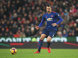 Zlatan Ibrahimovic of Manchester United in action - Mandatory by-line: Jack Phillips/JMP - 21/01/2017 - FOOTBALL - Bet365 Stadium - Stoke-on-Trent, England - Stoke City v Manchester United - Premier League