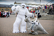 UNITED KINGDOM, London: 24 May 2019 <br /> Lochlan Smith, aged 7 and dad Jason Smith pose for a picture in their Star Wars costumes outside of the ExCeL Centre in London earlier today for the MCM London Comic Con. Thousands of cosplay enthusiasts will come to the ExCeL Centre across the next three days to enjoy the convention.