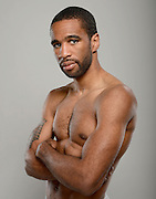 LAS VEGAS, NV - MAY 04:  Boxer Lamont Peterson poses during a Golden Boy Promotions portrait session at the MGM Grand Garden Arena on May 4, 2013 in Las Vegas, Nevada.  (Photo by Jeff Bottari/Golden Boy/Golden Boy via Getty Images)