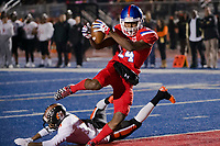 during the second quarter as the Folsom High School Bulldogs varsity football team hosts the Central High School Grizzlies in the CIF NorCal Division I-AA title game, Friday Dec 8, 2017. The winner of this game will face the CIF SoCal winner in the State Championship game at Sacramento State, Friday Dec 15th.<br /> photo by Brian Baer
