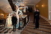 AMANDA WAKELEY; HAROLD TILLMAN; HUGH MORRISON, Unveiling of the Dior Christmas Tree by John Galliano at Claridge's. London. 1 December 2009 *** Local Caption *** -DO NOT ARCHIVE-© Copyright Photograph by Dafydd Jones. 248 Clapham Rd. London SW9 0PZ. Tel 0207 820 0771. www.dafjones.com.<br /> AMANDA WAKELEY; HAROLD TILLMAN; HUGH MORRISON, Unveiling of the Dior Christmas Tree by John Galliano at Claridge's. London. 1 December 2009