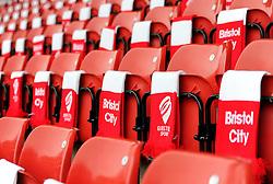 Ashton Gate laid out with scarves - Photo mandatory by-line: Dougie Allward/JMP - Mobile: 07966 386802 - 25/01/2015 - SPORT - Football - Bristol - Ashton Gate - Bristol City v West Ham United - FA Cup Fourth Round