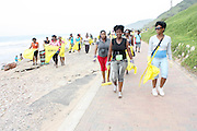 Youth from Johannesburg, Limpopo and Durban participate in a beach clean up organized by the Southern Durban Community Environmental Alliance (SCDEA)/KZN, 1 December 2011