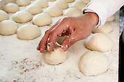 Pita Bakery. dough balls ready for flattening and baking