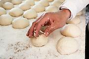 Pita Bakery. dough balls ready for flattening and baking