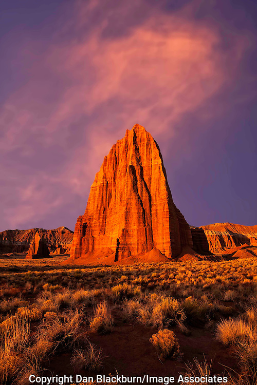 Sunrise at Temple of the Sun & Temple of the Moon, Cathedral Valley, Capitol Reef National Park, Utah