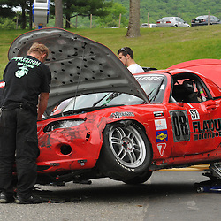 May 23, 2009; Lakeville, CT, USA; The Flatout Motorsports Mazda MX-5 driven by Nick Leverone and Hugh McHaffie Grand-Am Koni Sports Car Challenge series competition during the Memorial Day Road Racing Classic weekend at Lime Rock Park.