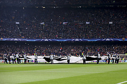 March 14, 2018 - Barcelona, Catalonia, Spain - Champions league oficial banner during UEFA Champions League match between FC Barcelona and Chelsea FC at Camp Nou Stadium corresponding of Round of 16, Second leg on March 14, 2018 in Barcelona, Spain. (Credit Image: © Urbanandsport/NurPhoto via ZUMA Press)