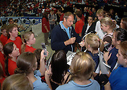 2005 British Indoor Rowing Championships, Sir Steve REDGRAVE, signs competitors programmes. National Indoor Arena, Birmingham, ENGLAND,    20.11.2005   © Peter Spurrier/Intersport Images - email images@intersport-images..[Mandatory Credit Peter Spurrier/ Intersport Images]