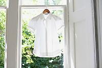 Blouse on Hanger in domestic window