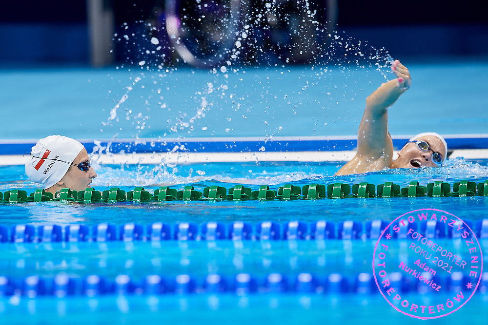 Rio de Janeiro, Brazil - 2016 September 02: (L) Paulina Wozniak looks at (R) Joanna Mendak both from Poland during training session in Olympic Aquatics Stadium while 2016 Summer Paralympic Games on September 02, 2016 in Rio de Janeiro, Brazil.<br /> Rio 2016 Paralympic Games will be held from September 7 until 18.<br /> <br /> Adam Nurkiewicz declares that he has no rights to the image of people at the photographs of his authorship.<br /> <br /> Picture also available in RAW (NEF) or TIFF format on special request.<br /> <br /> Any editorial, commercial or promotional use requires written permission from the author of image.<br /> <br /> Mandatory credit:<br /> Photo by &copy; Adam Nurkiewicz / Mediasport