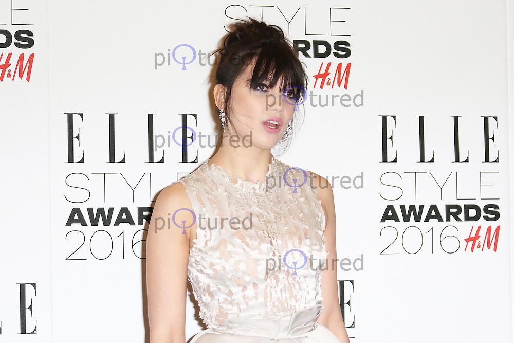 Daisy Lowe, ELLE Style Awards 2016, Millbank London UK, 23 February 2016, Photo by Richard Goldschmidt