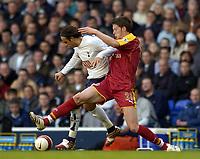 Photo: Olly Greenwood.<br />Tottenham Hotspur v Reading. The Barclays Premiership. 01/04/2007. Spurs Dimitar Berbatov and Reading's Greg Halford