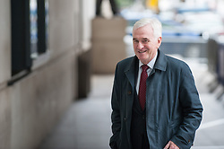 John McDonnel, Shadow Chancellor and Member of Parliament for Hayes and Harlington arrives at the BBC for the Andrew Marr show.<br /> <br /> Richard Hancox | EEm 07072019