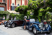 Como, Italy, Concorso d'Eleganza Villa D'Este, from left Bugatti 57, and Bentley 4 1/4 Litre