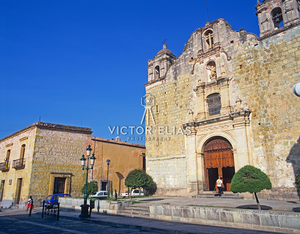 Exterior of church. Oaxaca, Mexico.