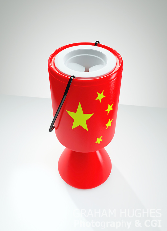 Chinese Charity Collection Box