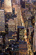 New York. elevated view on  fifth avenue and midtown buildings at sunsetNew york - United states  / la cinquieme avenue  vue d en haut New york - Etats unis
