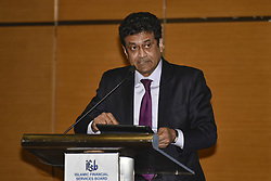 April 4, 2017 - Kuala Lumpur, MALAYSIA - Secretary-General, Islamic Financial Service Board Mr. Jaseem Ahmed speaks during IFSB Annual Meetings 2017 on April 04 2017 in Kuala Lumpur, Malaysia. .The IFSB(Islamic Financial Services Board) Annual Meetings and Side Events 2017 is jointly hosted by the Central Bank of the Islamic Republic of Iran and Bank Negara Malaysia. (Credit Image: © Chris Jung via ZUMA Wire)
