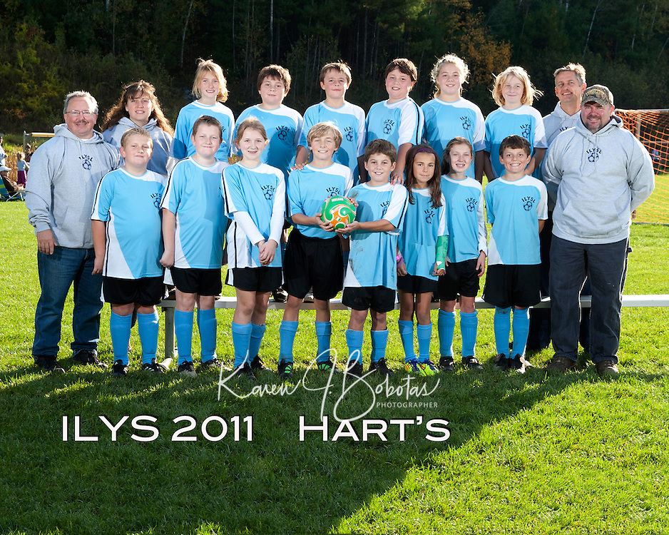 Inter Lakes Youth Soccer League Hart's October 15, 2011.