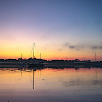 Sunset at Dell Quay in West Sussex, England