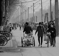 The streets surrounding Wuhan University of Science & Technology, Qingshan, Wuhan in 1997.