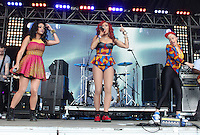 LONDON - JUNE 16: Stooshe performs at Lovebox, Victoria Park, London, UK. June 16, 2012. (Photo by Brett Cove/piQtured)
