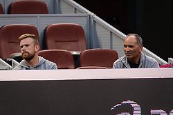September 29, 2018 - Nick Saviano watches Elina Svitolina during her first-round match at the 2018 China Open WTA Premier Mandatory tennis tournament (Credit Image: © AFP7 via ZUMA Wire)
