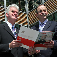 Micheal Martin T.D., Minister for Enterprise, Trade and Employment at the official opening of the new Ennis' Information Age Park<br /> <br /> Photograph by Yvonne Vaughan.