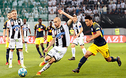 09.05.2018, Woerthersee Stadion, Klagenfurt, AUT, OeFB Uniqa Cup, SK Puntigamer Sturm Graz vs FC Red Bull Salzburg, Finale, im Bild Fabian Koch (SK Puntigamer Sturm Graz), Hee Chan Hwang (FC Red Bull Salzburg) // during the final match of the ÖFB Uniqa Cup between SK Puntigamer Sturm Graz and FC Red Bull Salzburg at the Woerthersee Stadion in Klagenfurt, Austria on 2018/05/09. EXPA Pictures © 2018, PhotoCredit: EXPA/ Johann Groder