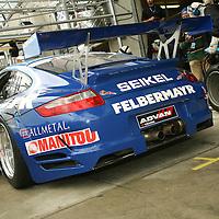 #71 Porsche 997 GT3 RSR in the pits - Seikel Motorsport (Drivers - Horst Felbermayr Jr., Horst Felbermayr and Philip Collin) GT2, Le Mans 24Hr 2007