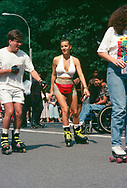 Roller disco in Central Park, New York City, 1994.