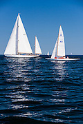 Black Watch and Vixen sailing in the Corinthian Classic Yacht Regatta.