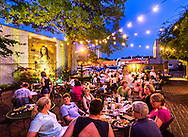 Diners relax on the back patio at Raging Burrito in Decatur, Georgia, June 4, 2014. (Photo by Carmen K. Sisson/Cloudybright)