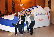 "Chris O'Donnell poses for a ""selfie"" with event attendees at the John Hancock Vitality Village in New York, Wednesday, April 8, 2015, to celebrate the launch of John Hancock's whole new approach to life insurance that rewards consumers for healthy living. For more information, visit JHRewardsLife.com.  (Photo by Diane Bondareff/Invision for John Hancock Financial/AP Images)"