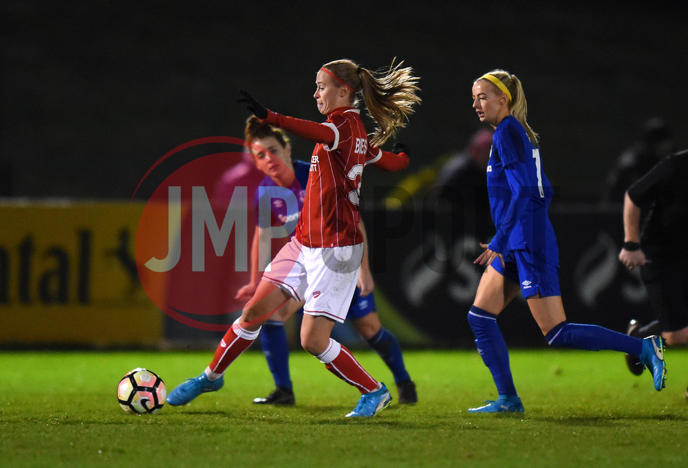 Julie Biesmans of Bristol City Women in action against Everton Ladies - Mandatory by-line: Paul Knight/JMP - 06/01/2018 - FOOTBALL - Stoke Gifford Stadium - Bristol, England - Bristol City Women v Everton Ladies - FA Women's Super League
