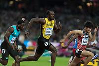 Athletics - 2017 IAAF London World Athletics Championships - Day One<br /> <br /> Event: Men's 100 Metres Qualifying <br /> <br /> Usain Bolt (JAM)<br /> <br /> <br /> COLORSPORT/DANIEL BEARHAM
