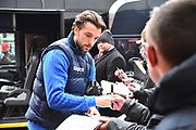 Jay Rodriguez (19) of West Bromwich Albion signing his autograph for fans on arrival at the Vitality Stadium before the Premier League match between Bournemouth and West Bromwich Albion at the Vitality Stadium, Bournemouth, England on 17 March 2018. Picture by Graham Hunt.