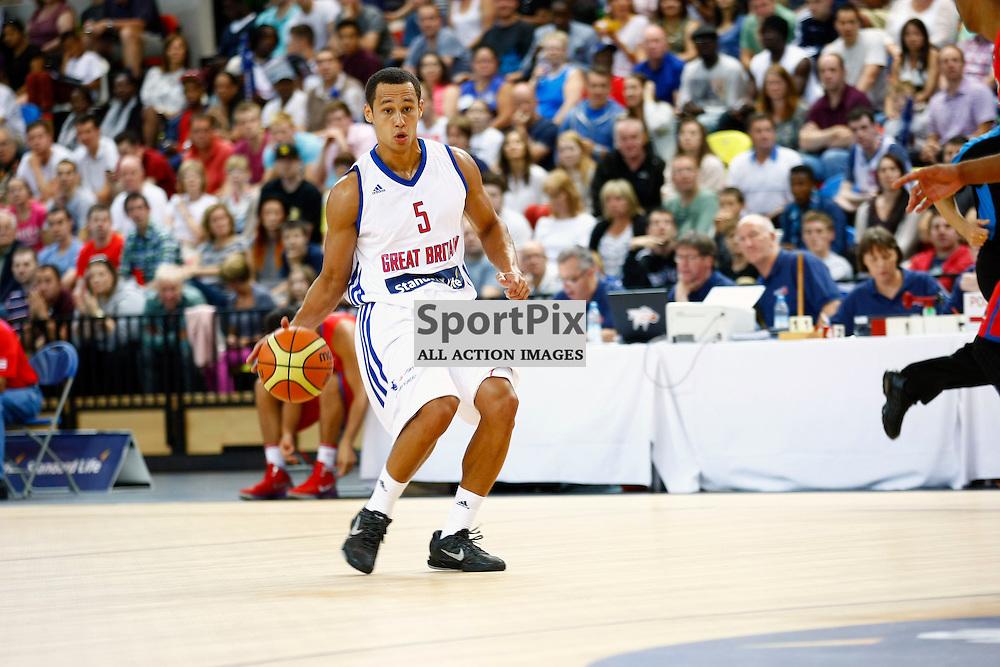 GB men vs Puerto Rico basketball at the Copper Box Arena. Andrew Lawrence (05).11/08/2013 (c) MATT BRISTOW